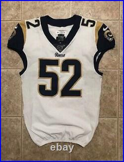 Clay Matthews Los Angeles Rams Game Used Worn Jersey Packers HOFer 2019 Matched