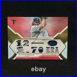 Clayton Kershaw Dodgers 2018 Topps Triple Threads Game Used Jersey Patch 1/1