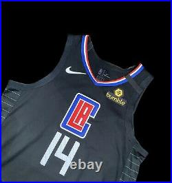 Clippers Terance Mann ROOKIE Game Worn Jersey Social Message Meigray COA Used