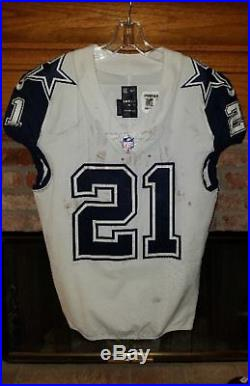 DALLAS COWBOYS EZEKIEL ELLIOT GAME WORN-GAME USED AWAY JERSEY With COWBOYS LETTER