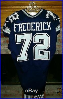 DALLAS COWBOYS TRAVIS FREDERICK GAME USED/GAME WORN JERSEY & PANTS With LETTER