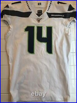 DK Metcalf Team Issued Pro Cut Seattle Seahwaks Jersey Game Worn Used