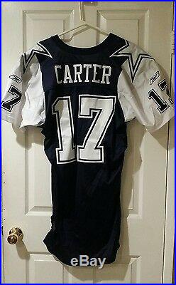 Dallas Cowboys Quincy Carter Rookie Game Jersey withGame Used Practice Jersey