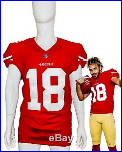 Dante Pettis Rookie Event Worn San Francisco 49ers NFL Red Jersey Like Game Used