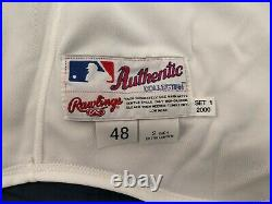 Darryl Kile 2000 St. Louis Cardinals #57 Autographed (2X) Game Used Home Jersey