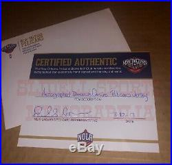 DeMarcus Cousins Game Used Worn New Orleans Pelicans Jersey Autographed Warriors