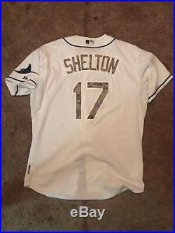 Derek Shelton Game Used Tampa Bay Rays Camo Jersey Authenticated