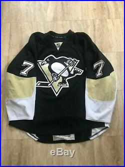 Derrick Pouliot Game Used Worn Pittsburgh Penguins Home Rookie Jersey Canucks