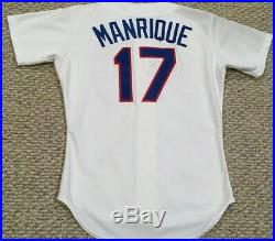 FRED MANRIQUE size 42 TEXAS RANGERS 1989 game used jersey home white original