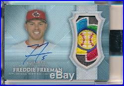 Freddie Freeman 1/1 Auto 2017 Topps Dynasty Game Used Jersey WBC Relic Patch