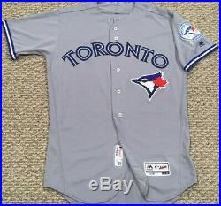 GOINS #17 size 42 2016 Toronto Blue Jays GAME USED jersey road gray 40 MLB HOLO
