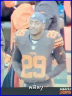 Game Used Worn 2018 Duke Johnson Cleveland Browns Unwashed Color Rush Jersey