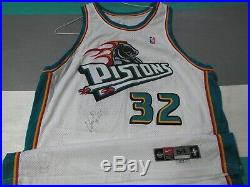 Game Used Worn Joe Smith Detroit Pistons 2000-01 Nike Jersey Autographed Signed