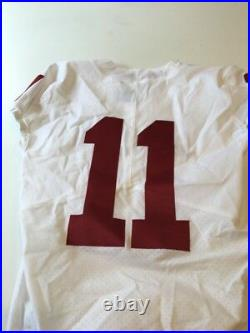 Game Worn Used Oklahoma Sooners OU Nike Football Jersey Size 38 #11 Motley