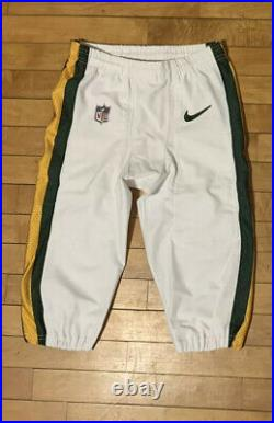 Green Bay Packers COLOR RUSH Game Worn Used Pants Nike NFL Team Issued Size 32