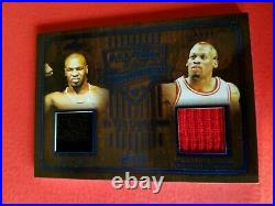 IRON MIKE TYSON WORN TRUNKS DENNIS RODMAN GAME USED JERSEY CARD #d15/30 LEAF ITG