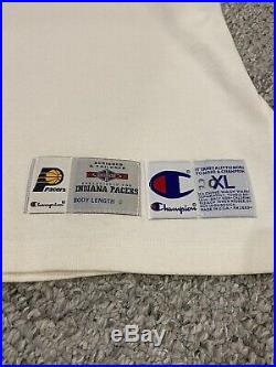 Indiana Pacers Game Used Warm Up Warm-Up Signed By Reggie Miller