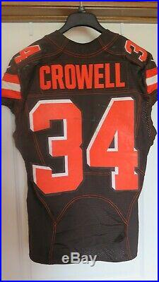 Isaiah Crowell Cleveland Browns 2015 Authentic Game Used Issued Jersey Fanatics