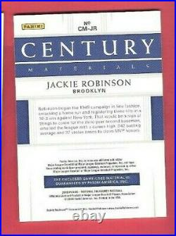 JACKIE ROBINSON 2 GAME USED JERSEY CARD #d11/25 2018 NATIONAL TREASURES Dodgers