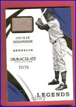 JACKIE ROBINSON GAME USED JERSEY CARD #d 23/25 2018 IMMACULATE LEGENDS Dodgers