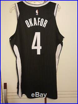 Jahlil Okafor 2017-18 Brooklyn Nets Game Worn Used Jersey vs Philly Steiner COA