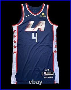 Jamycha Green Clippers City Edition Game Worn Used Jersey Nba Champion Lakers
