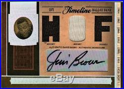 Jim Brown 2006 National Treasures Timeline Triple Jersey Auto /23 Game Used