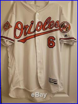 Jonathan Schoop Baltimore Orioles Authentic Game Used/Issued Jersey Brewers Twin