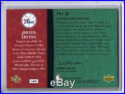 Julius Erving Auto Game-used Jersey Logo Patch /10 2007-08 Ud Premier Patches #6