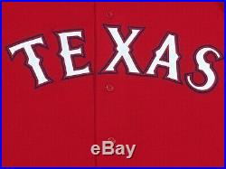 KINER-FALEFA size 46 #9 2018 Texas Rangers game used jersey alt red MLB HOLO