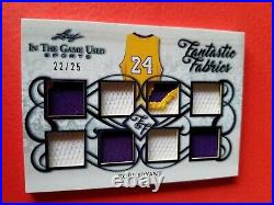KOBE BRYANT PATCH & GAME USED JERSEY CARD #d22/25 LEAF FANTASTIC FABRICS LAKERS
