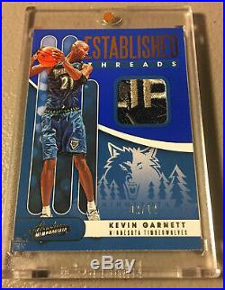 Kevin Garnett 19-20 Absolute Jersey FLIP Tribute Patch #/12 GAME USED Non Auto