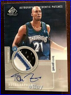 Kevin Garnett 2004/05 UD SP Game Used Auto Jersey SPGU Patch 1/50 RARE