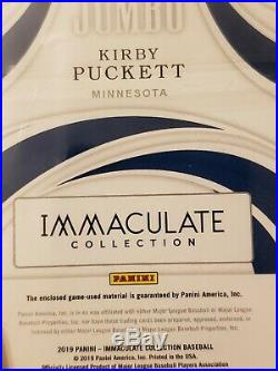 Kirby Puckett 2019 Immaculate Jersey Number Game Used PATCH 1/1 RARE