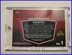 Kobe Bryant 1/1 Triple Threads, Game used, Jersey, Printing Plate. 1 of 1. 1of1