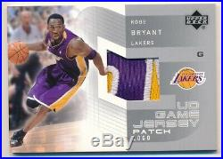 Kobe Bryant 2002/03 Upper Deck Ud Game Used Jersey Patch Logo Lakers Sp Rare