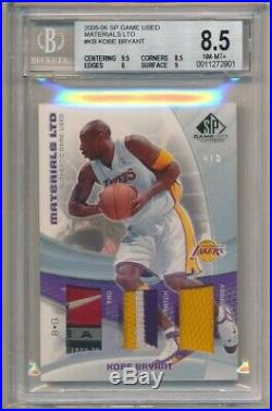 Kobe Bryant 2005/06 Sp Game Used Materials Ltd Triple Tag Patch Jersey Sp #4/5