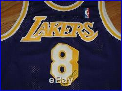 Kobe Bryant Game Worn Used 1997-98 Lakers #8 Dual Autographed Signed Jersey