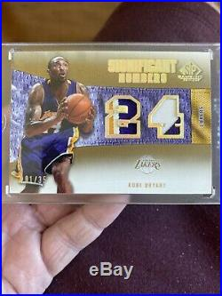 Kobe Bryant Significant Numbers Game Used Jersey #d 1/35 Non Auto! Rare card