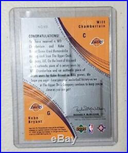 Kobe Bryant Wilt Chamberlain Dual Game Used Jersey and Shorts UD LA Lakers 2002