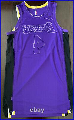 Lakers Alex Caruso Player Issued Pro Game Worn Jersey Kobe Bryant Patch Size 48