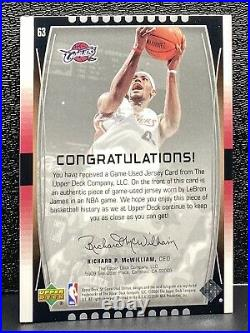LeBron James SP Game Used 2004-05 Jersey Worn Card #63