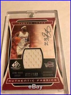 Lebron James 2004 SP Game Used Signature Auto/Jersey Card