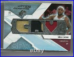 Lebron James 2008-09 Ud Spx Winning Materials Game Used Jersey Patch /25 Mint