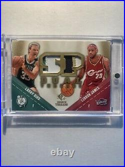 Lebron James Larry Bird Game-used Patch 2008-09 Ud Sp Rookie Threads Dual Gold