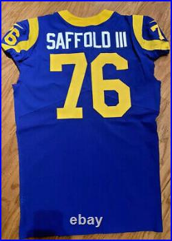 Los Angeles Rams RODGER SAFFOLD TITANS Game Worn Used Jersey! SUPER BOWL 2018