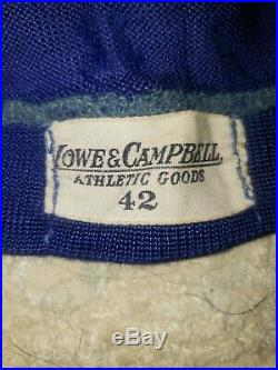 Lowe Campbell Game Used Football Durene Wool Jersey Auburn Tigers Colors