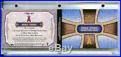 MIKE TROUT 2012 Topps 5 Five Star Auto Autograph Quad Game Used Jersey SP 29/49