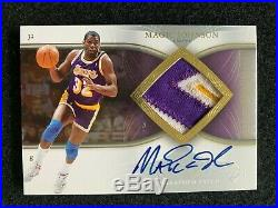 Magic Johnson 2007 Exquisite Game Used Jersey Lakers Patch Auto Autograph /100