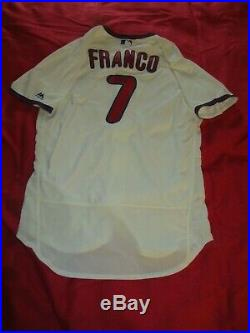 Maikel Franco Phillies 2018 GAME USED AUTOGRAPHED SIGNED HOME ALTERNATE JERSEY